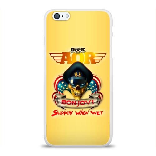 Чехол для Apple iPhone 6Plus/6SPlus силиконовый глянцевый  Фото 01, Bon Jovi, slippery when wet