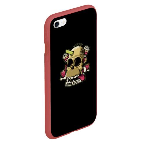 Чехол для iPhone 6Plus/6S Plus матовый Череп Гомер Фото 01