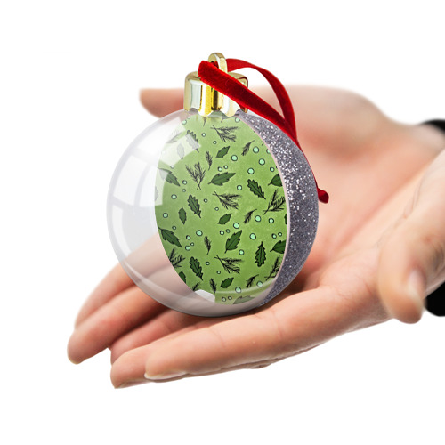 Ёлочный шар с блестками  Фото 03, Новогодний pattern
