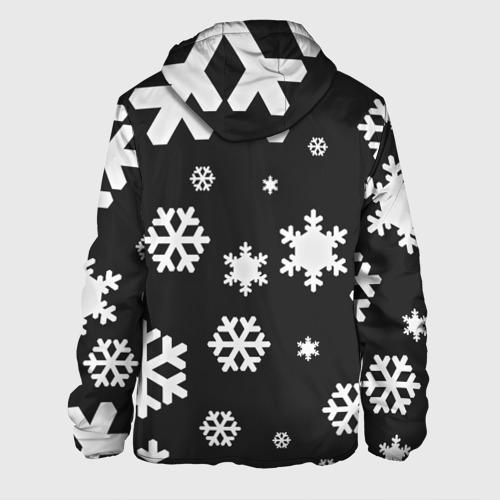 Мужская куртка 3D  Фото 02, Снежинки