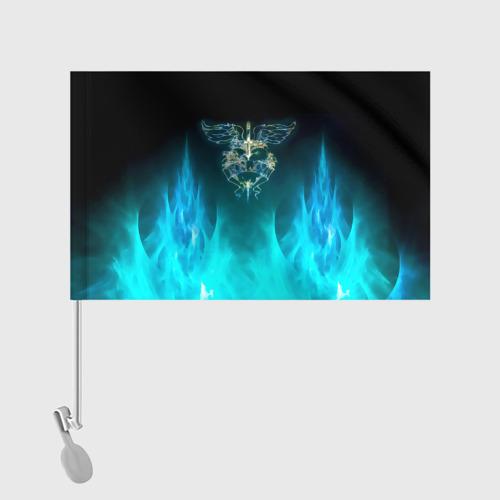 Флаг для автомобиля Сердце Bon Jovi Фото 01