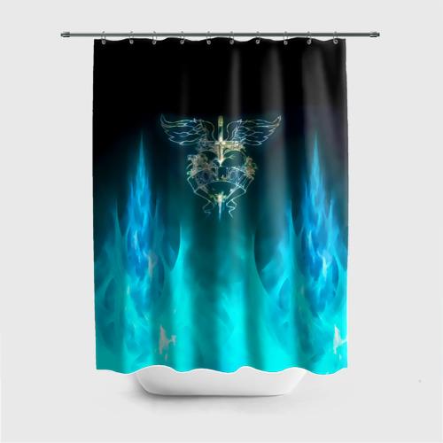 Штора 3D для ванной Сердце Bon Jovi Фото 01