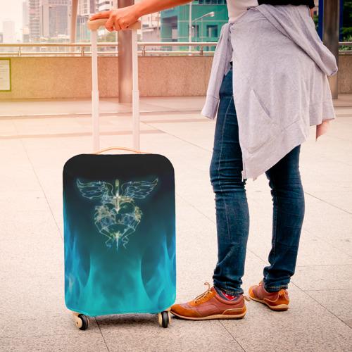 Чехол для чемодана 3D Сердце Bon Jovi Фото 01