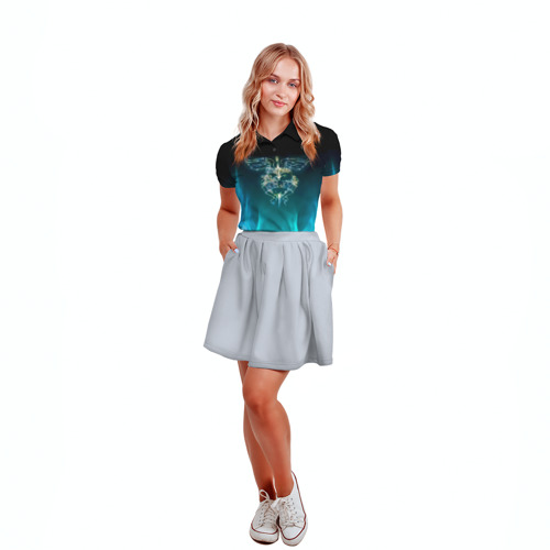 Женская рубашка поло 3D Сердце Bon Jovi Фото 01