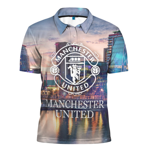 Мужская рубашка поло 3D  Фото 01, Man Utd