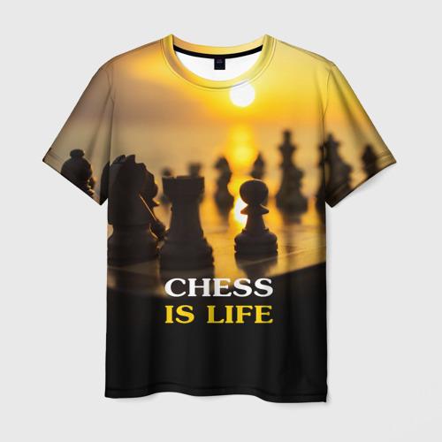 Мужская футболка 3D  Фото 03, Шахматы - это жизнь