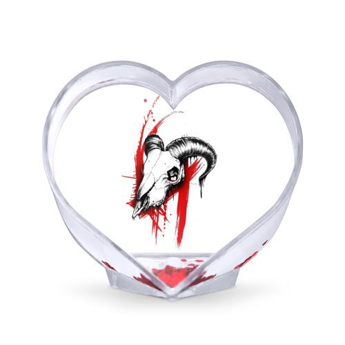 Сувенир Сердце  Фото 01, Череп треш полька