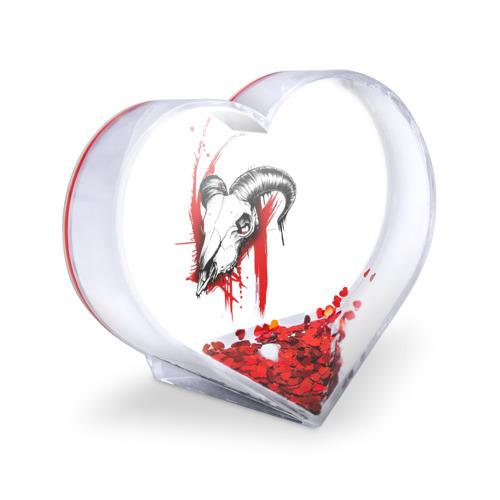 Сувенир Сердце  Фото 03, Череп треш полька