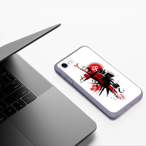 Чехол для iPhone 7/8 матовый Треш полька Будда Фото 01