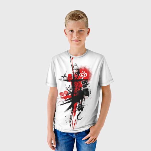 Детская футболка 3D Треш полька Будда