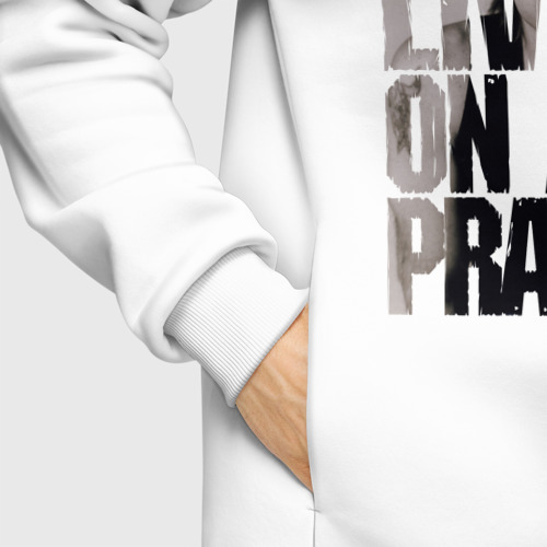 Мужское худи Oversize хлопок Ohhhh living on a prayer Фото 01