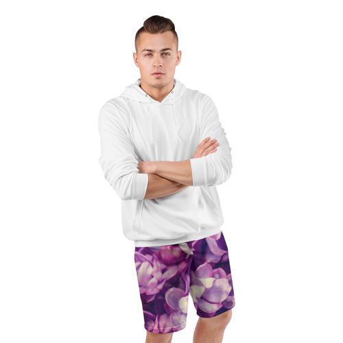 Мужские шорты 3D спортивные  Фото 05, Цветы
