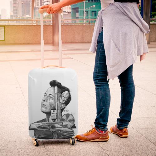 Чехол для чемодана 3D  Фото 04, Илон Маск