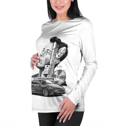 Женский лонгслив 3D для беременных  Фото 01, Илон Маск