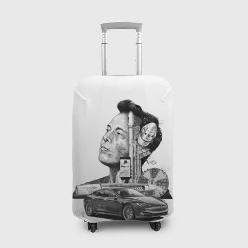 Чехол для чемодана 3D  Фото 01, Илон Маск
