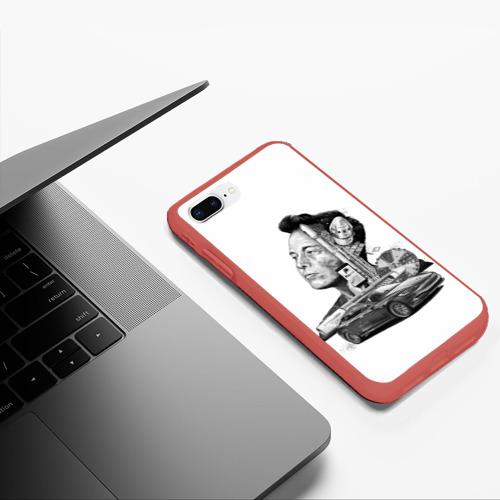 Чехол для iPhone 7Plus/8 Plus матовый Илон Маск Фото 01