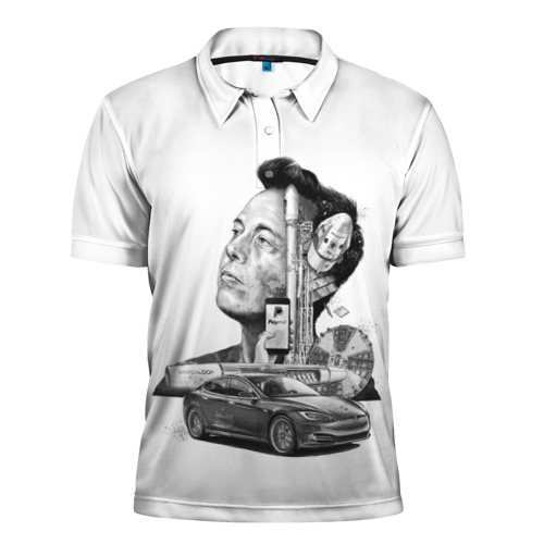 Мужская рубашка поло 3D  Фото 01, Илон Маск