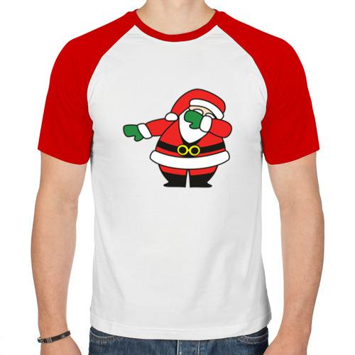 Мужская футболка реглан  Фото 01, Дед Мороз DAB