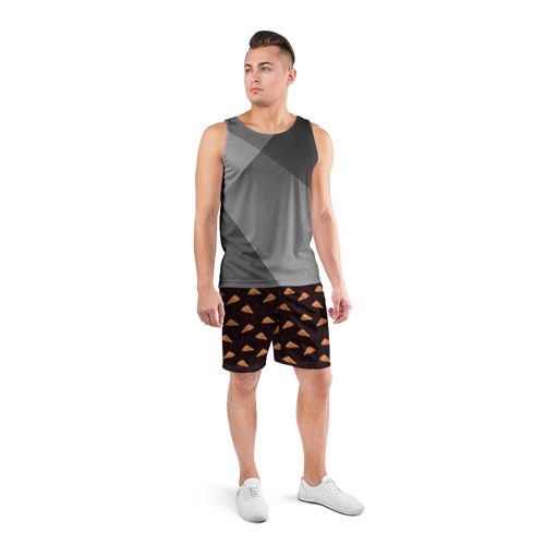 Мужские шорты 3D спортивные  Фото 04, Galaxy pizza