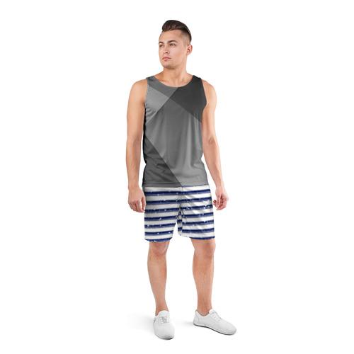 Мужские шорты 3D спортивные  Фото 04, Морская