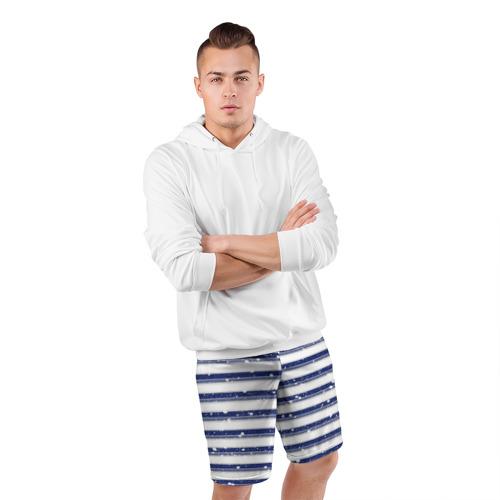 Мужские шорты 3D спортивные  Фото 05, Морская