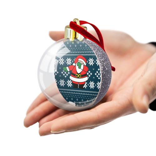 Ёлочный шар с блестками  Фото 03, Дед Мороз DAB