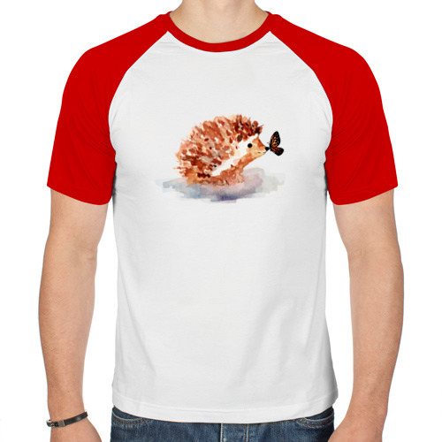 Мужская футболка реглан  Фото 01, Ёжик