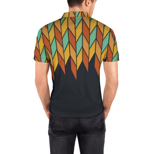 Мужская рубашка поло 3D  Фото 04, Перья птицы из Вальхаллы