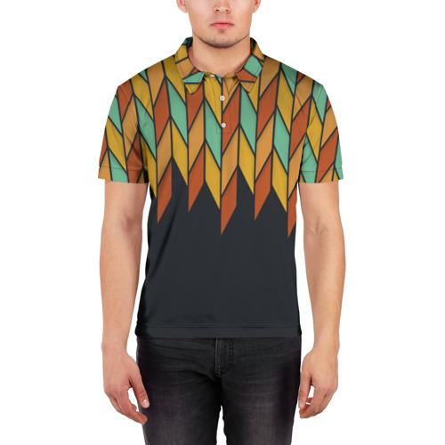 Мужская рубашка поло 3D  Фото 03, Перья птицы из Вальхаллы