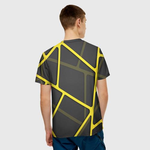 Мужская футболка 3D  Фото 02, Желтая сетка