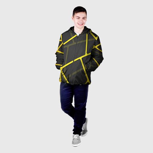 Мужская куртка 3D Желтая сетка Фото 01