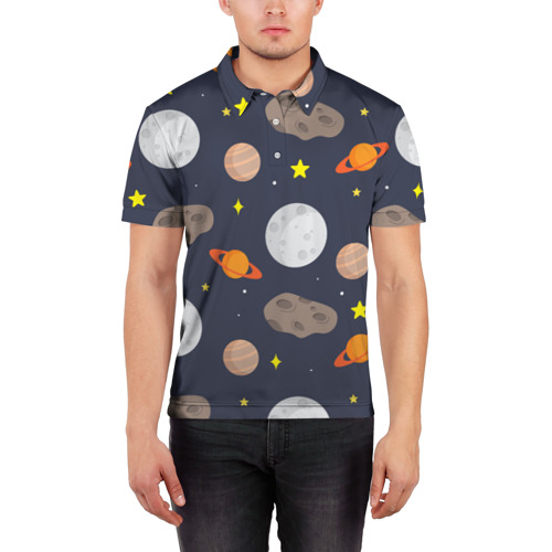 Мужская рубашка поло 3D  Фото 03, Луна