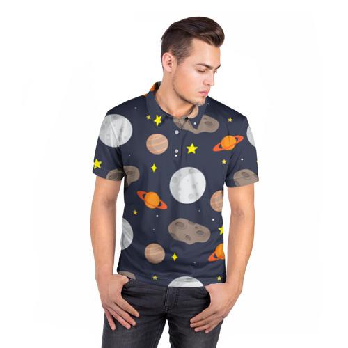 Мужская рубашка поло 3D  Фото 05, Луна