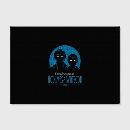 Холст прямоугольный Холмс и Ватсон 221B Фото 01