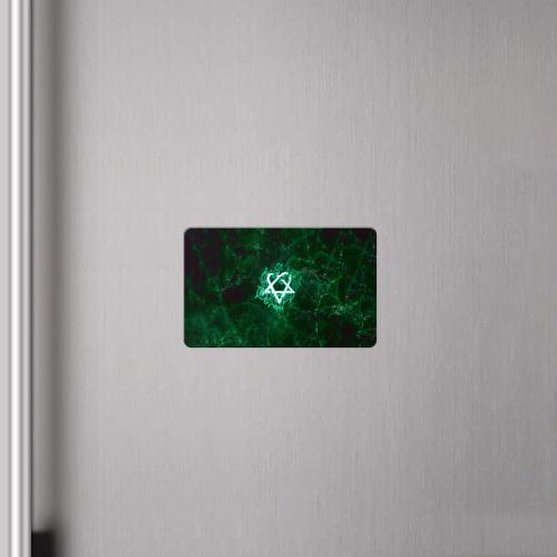 Магнит виниловый Visa  Фото 04, Зеленый HIM