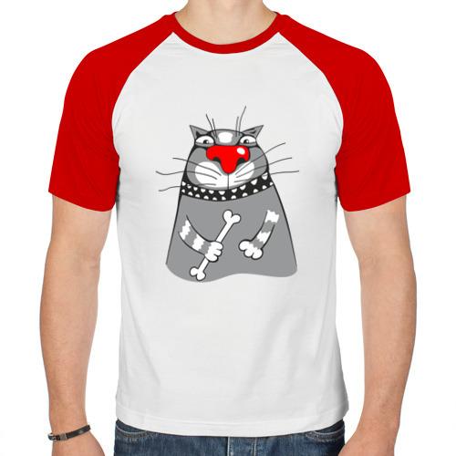 Мужская футболка реглан  Фото 01, Кот
