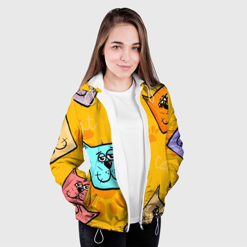 Женская куртка 3D  Фото 04, Котики