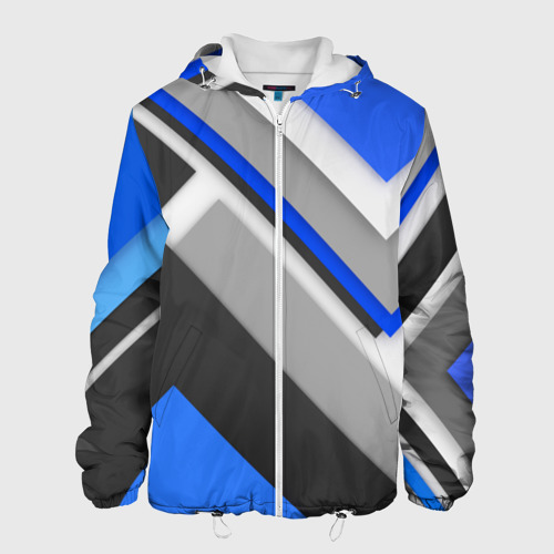 Мужская куртка 3D  Фото 01, Спортивная геометрия #7