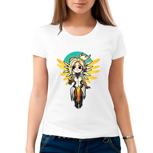 Женская футболка хлопок  Фото 03, Ангел