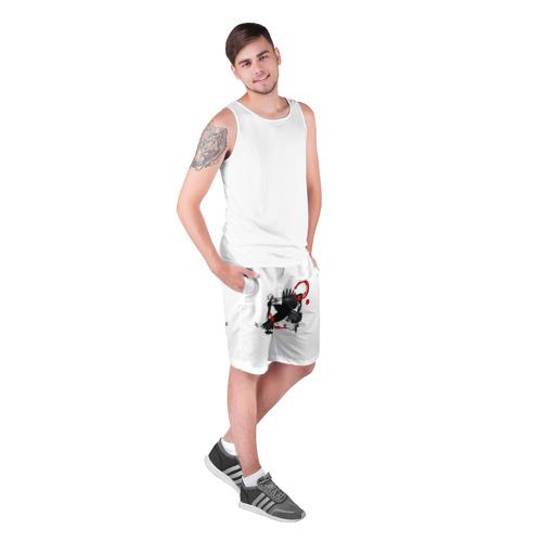 Мужские шорты 3D  Фото 03, Треш-полька Ворон