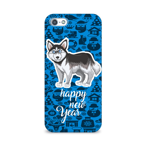 Чехол для Apple iPhone 5/5S 3D  Фото 01, Хаски(новый год)