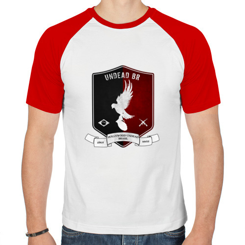 Мужская футболка реглан  Фото 01, Шеврон Hollywood Undead