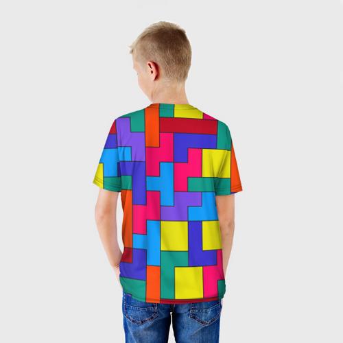 Детская футболка 3D Орнамент Тетрис Фото 01