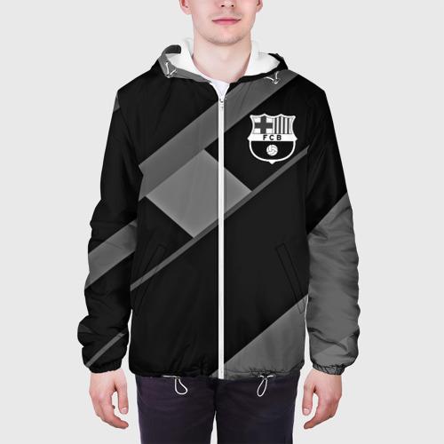 Мужская куртка 3D  Фото 04, FC Barcelona gray collection