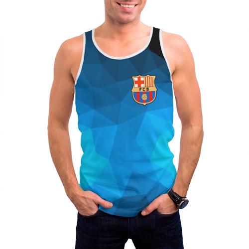 Мужская майка 3D  Фото 03, FC Barcelona polygon 2018