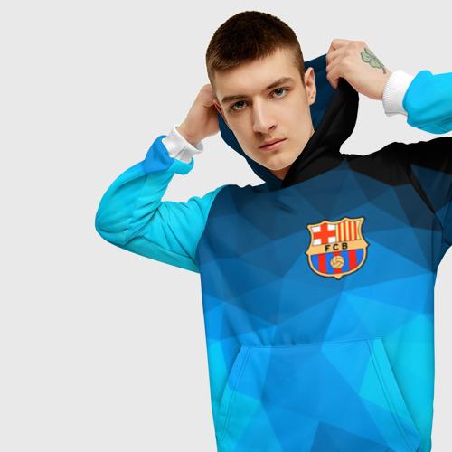 Мужская толстовка 3D FC Barcelona polygon 2018