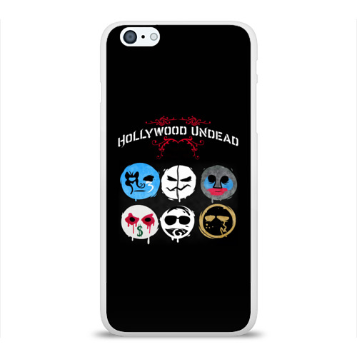 Чехол для Apple iPhone 6Plus/6SPlus силиконовый глянцевый  Фото 01, Hollywood Undead маски