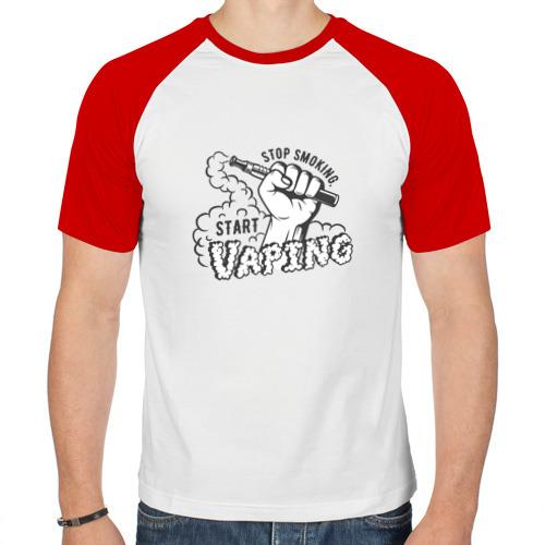 Мужская футболка реглан  Фото 01, Stop smoking, start vaping