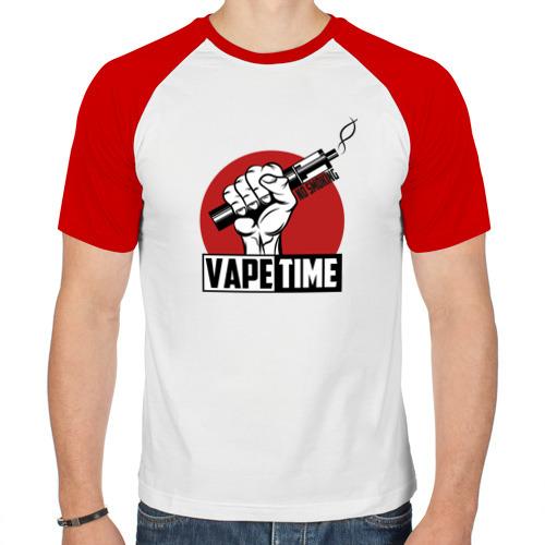 Мужская футболка реглан  Фото 01, Vape time