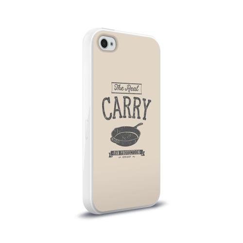 Чехол для Apple iPhone 4/4S силиконовый глянцевый The Real Carry - Pan Protectio Фото 01